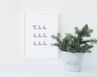 Fa la la la la Christmas / Festive Shelfie Decorative print