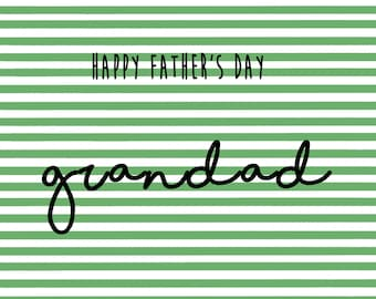 Father's day card for grandfather - Father's day - Father's day card - Grandad card - Card for Grandad