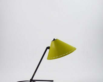 Pinocchio lamp or pinokkio lamp minimalist industrial icon from the fifties