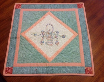 Hand Embroidered and Quilted Wall Hanging