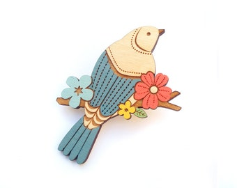 Swallow in the Trees Brooch