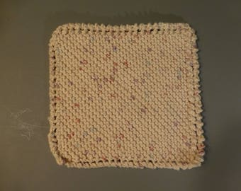 MAINE HAND CRAFTED Eco-Friendly Dishcloths Hand Knit Wash Cloths 100% Cotton Crocheted Face Cloths