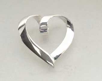 Sterling Silver Twisted Heart Charm