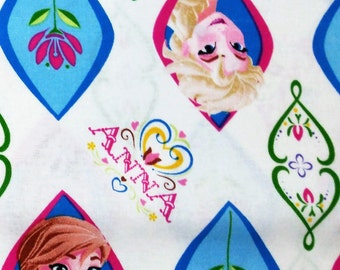 Fabric BTY Frozen Elsa and Anna
