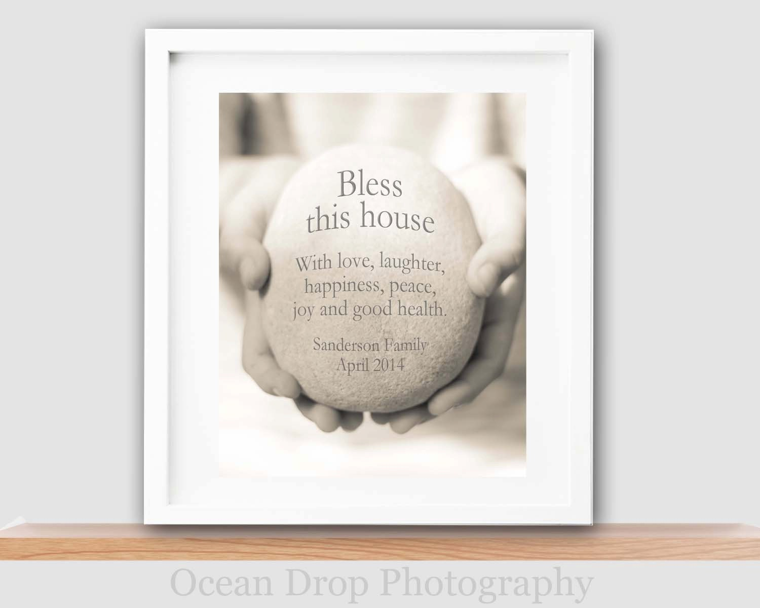 New Home Quotes Bless This House Print New Home Gift Housewarming Gift
