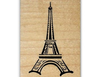 Eiffel Tower mounted rubber stamp, Paris, France, French, travel, Sweet Grass Stamps #22