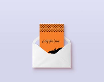 Halloween invitation printable card, funny halloween card, printable halloween decor, have a scary good time funny card, digital download