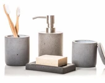 Concrete Bathroom Set 4 Piece