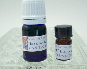 Brow Third Eye Ajna Chakra Essential Oil - 5/8 Dram or 5 mL - Aromatherapy Diffuser Oil - Chakra Balancing