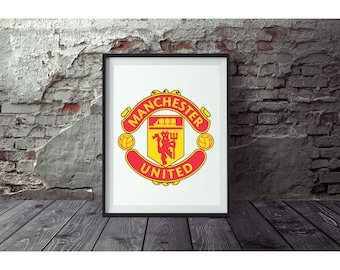 Manchester United  Poster no FRAME  included  (Next day FREE Shipping within the USA)