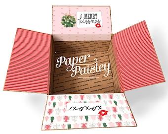 Care Package Box Sticker Kit - Merry Kissmans/ Military Care Package/Missionary Care Package/Holiday Care Package/Christmas Care Package