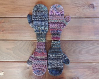 Sock Yarn Mittens - medium child - 4-7yrs