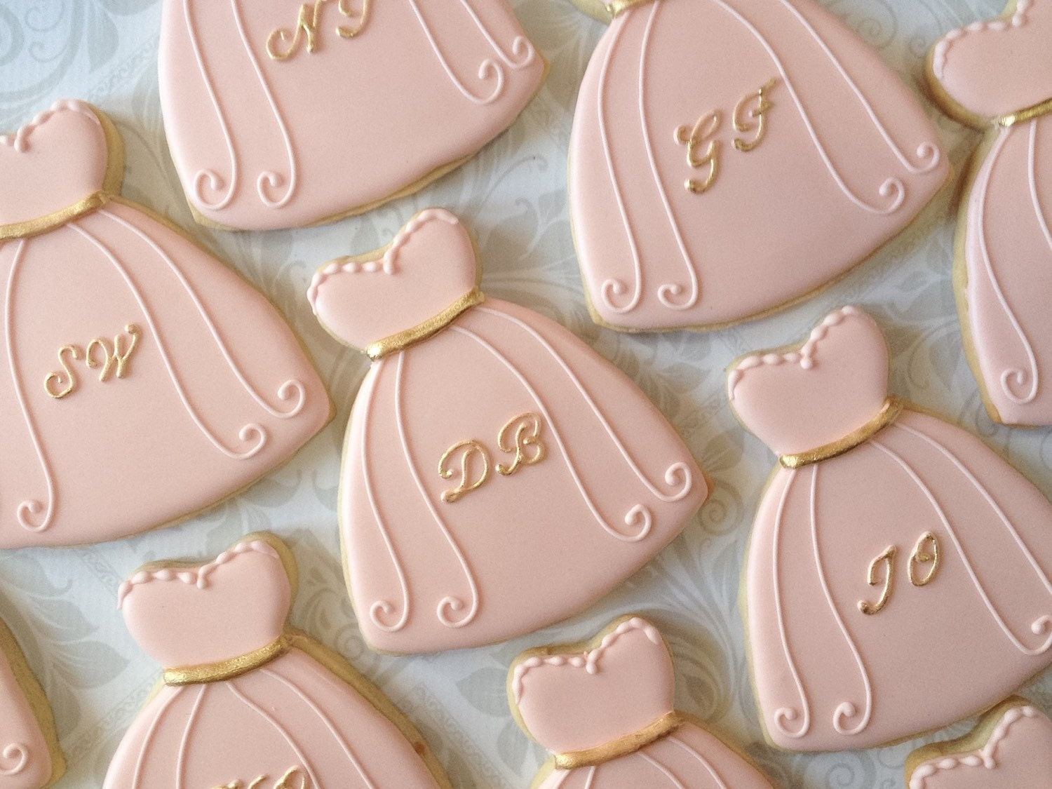 Will you be my Bridesmaid Dress Cookies One Dozen Decorated
