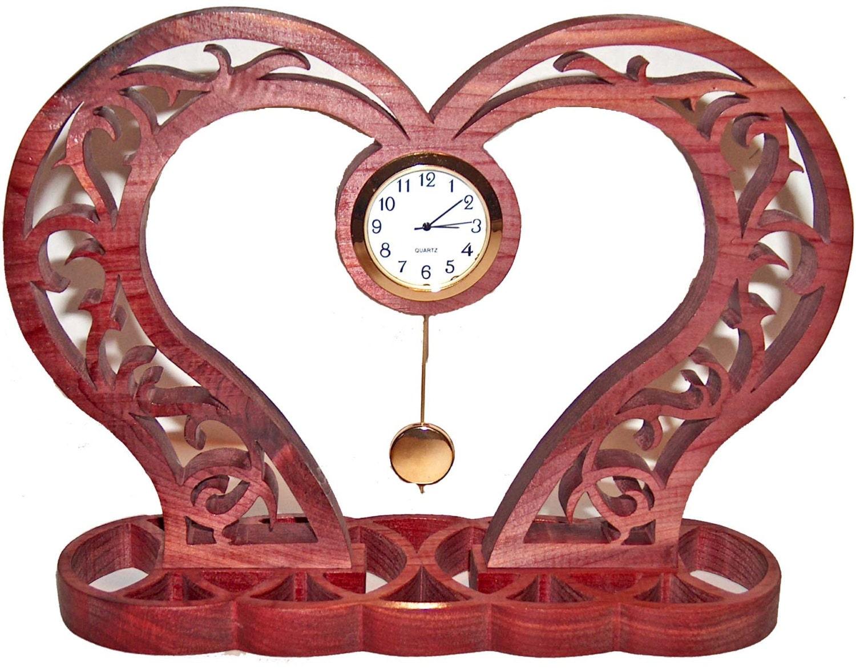 Pending Clock Wood Clock Anniversary Gift Idea Unique