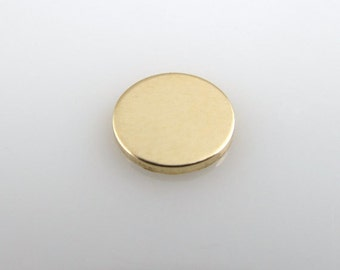 "Gold Filled Discs - 1/2"" - Stamping Discs - Personalized Jewelry"