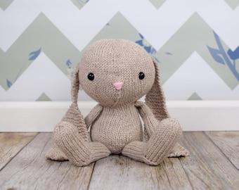 Big Stuffed Bunny, Bunny Doll, Stuffed Animal, Easter Bunny, Baby Gift, Knit Toy, Plush Toy, Kids Toy, Floppy Bunny, Handmade Doll, Soft Toy