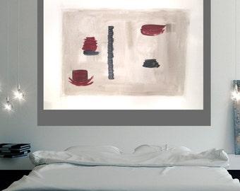Minimalist art, modern art canvas, abstract painting, original abstract, original modern art, grey art, wall art canvas, grey abstract