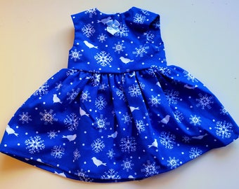 Snowflake Party Dress for 18 inch dolls like American Girl