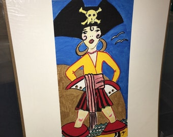 Large print of mixed media piece pirate