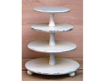 16 white wedding cake stand wood cupcake stand etsy 10071