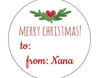 20 To and From Stickers, Christmas Stickers, Packaging, Personalized Stickers, Holiday Tags, Christmas Tags, To and From Labels, Presents