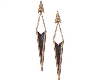 14k Diamond Stiletto Earrings