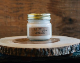 Cinnamon & Sage - Scented Soy Candle 7oz