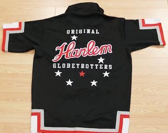 Platinum Fubu Harlem Globetrotters Warm-Up Jersey Sz XL - Snap Front Basketball