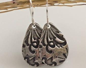 Silver Dangle Earrings   Boho Earrings   Sterling Silver Earrings
