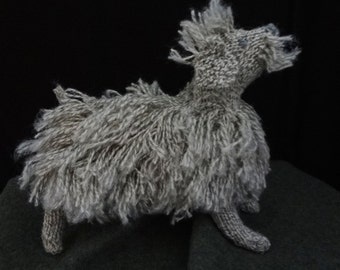 New Lower PRICE     knitted Labradoodle gray dog