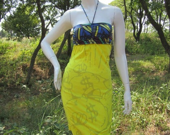 Moneybags t shirt bikini dress