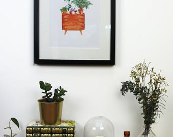 convenient watercolor vintage plants