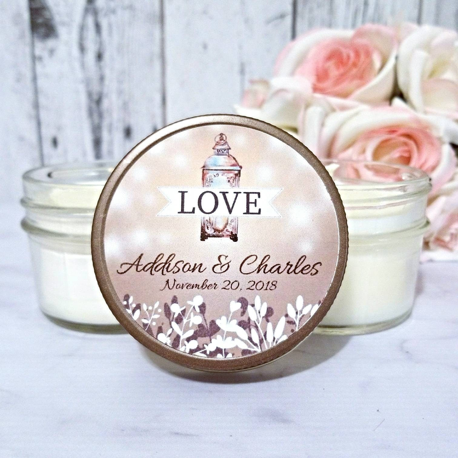 Soy Candle Wedding Favor - Soy Candle Favors - Wedding Favor Candles ...