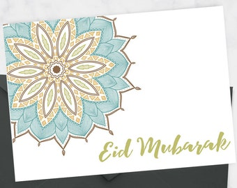 Floral Eid Card, Modern Eid Card, Eid Mubarak Card, Eid Stationery Set, Muslim Stationary, Eid Gift Cards, Islamic Stationary, Eid 2017