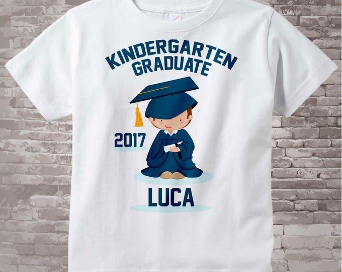 Personalized Kindergarten Graduate Shirt Kindergarten Graduation Shirt Child's Last Day of School Shirt 05182012a