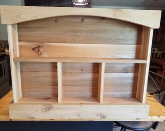 Rustic cedar wall shelf, Knick Knack shelf, Collectable wall shelf, Cedar shelf