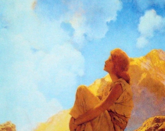 Maxfield Parrish Morning NEW! Painting Print Reduxed to Canvas Ready to Hang