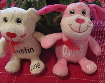 Valentine Plushie Personalized Valentines Day Gift