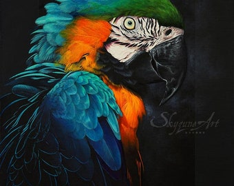 RAINBOW FEATHERS 30x40cm acrylic painting by Skyzune ART • • •