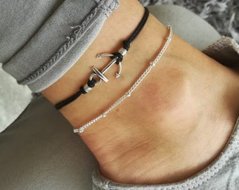 Anchor Anklet, Beach Anklet, Nautical Anklet, Anchor, Anchor Jewelry, Silver Anchor Anklet, Silver Anklet, Anchor Charm, Anklet for woman