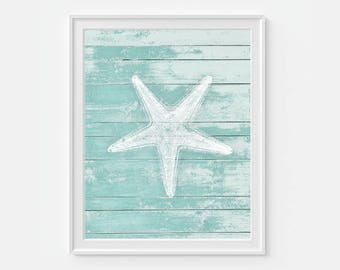 Starfish Wall Art, Starfish Art, Nautical Wall Art, Coastal Art, Coastal Decor, Beach Art Decor, Starfish Print, Art For Beach House