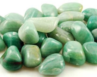 Green Aventurine Tumbled & Rough -- Luck, Reiki, Manifestation, Prosperity