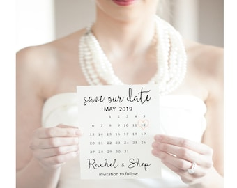 Calendar Save the date cards, Save The Date - Printable