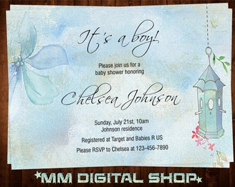 Boy Baby Shower Invitation Printable