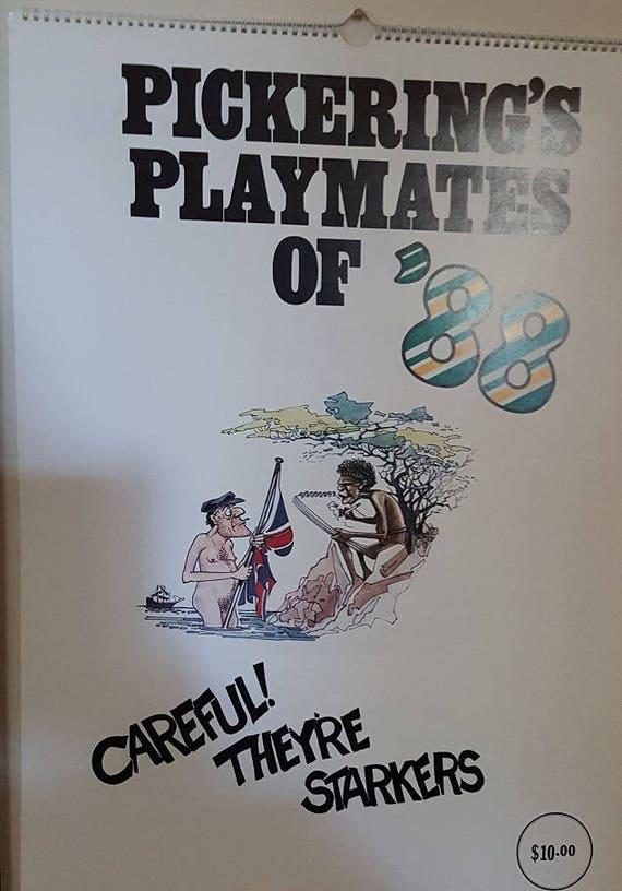 & Rare Dunny Door Hanger Pickerings Playmate Calendar of 1988
