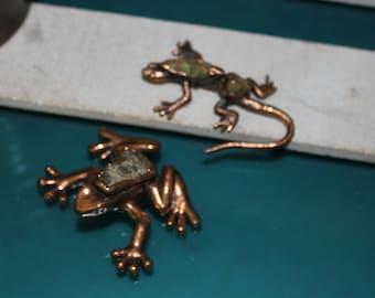 Pair of Copper Reptiles