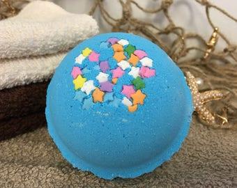 Jumbo Beneath the Stars Bath Bomb 7.5 oz, Aromatherapy Essential Oil, Hydrating Bath Fizzy for Dry Skin, Nourishing Coconut Oil