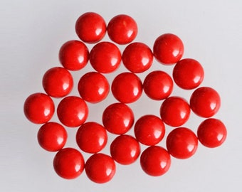 4mm Round Shape, Affordable Price Red Coral Lot Cabochon, Gemstone For Jewellery Making, Calibrated, Red Coral Lot Suppliers, Wholesale Lot,