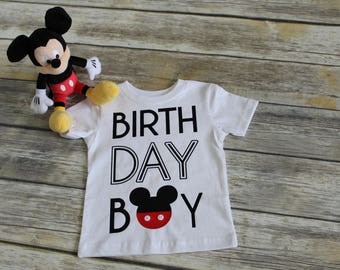Mickey Mouse, Minnie Mouse Birthday Boy / Girl Shirt.  Mom, Dad, and Grandparents of the birthday Boy / Girl Shirt