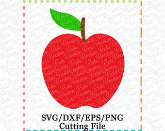 EXCLUSIVE SVG EPS dxf Apple Cutting File, apple cut file, fruit svg, autumn svg, fall svg, apple svg cut file